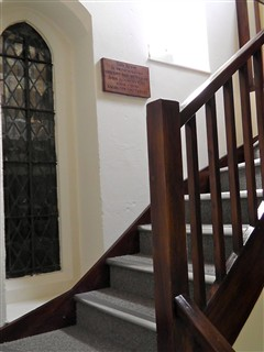 St Andrew's Centre - stairs to the John Summers-Gill Room