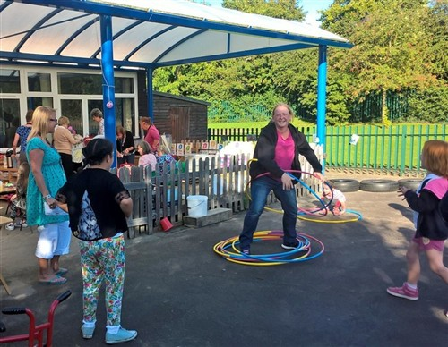 Messy Church Hula Hooping